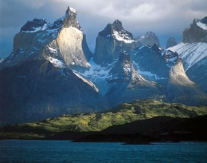 The Dark Towers: Like something out of Tolkien, these 8,500-foot peaks are known as Cuernos del Paine, inside the Torres del Paine park